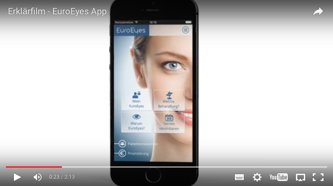 Digitale Healthcare Kommunikation EuroEyes App Film